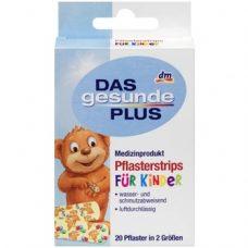 DAS gesunde PLUS Pflasterstrips – детский пластырь для ран, 20 шт.