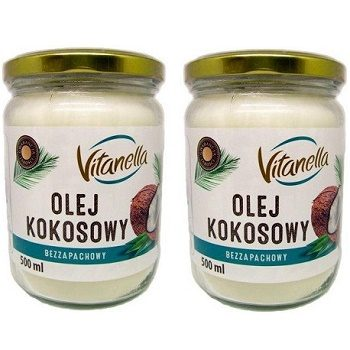 Vitanella Olej Kokosowy - масло кокосовое (рафинированное), 500х2 мл. (2 шт.)