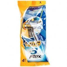 BiC Flex 3 – одноразовые станки для бритья (3 лезвия), 4 шт.