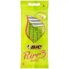 BiC Pure Lady 3 – бритвенные станки для женщин (3 лезвия), 4 шт.