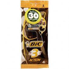 BiC Action 3 – одноразовые станки для бритья (3 лезвия), 4 шт.