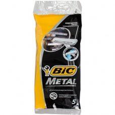 BiC Metal – одноразовые станки для бритья (1 лезвие), 5 шт.
