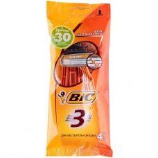BiC Sensitive 3 – одноразовые станки для бритья (3 лезвия), 4 шт.