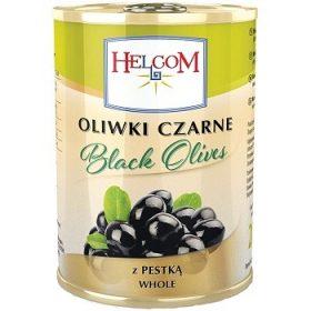 Helcom Black Olives – черные оливки с косточкой, 280 гр.