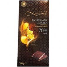 Luximo Czekolada Gorzka Pomarancz – черный шоколад с апельсином, 100 гр.