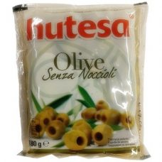 Hutesa Senza Noccioli – зелёные оливки без косточки, 180 гр.
