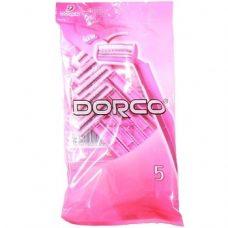 Dorco Pink Twin – бритвенные станки для женщин (2 лезвия), 5 шт.