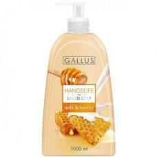 Gallus Milk & Honey – жидкое мыло для рук (молоко и мед), 1000 мл.