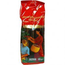 Hacendado Natural Descafeinado – кофе в зернах (без кофеина), 500 гр.