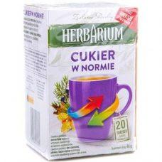 Herbarium Cukier w Normie – травяной чай для поддержания сахара, 20 шт.