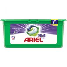 Ariel Pods Lavender Freshness – универсальные капсулы для стирки 3в1, 28 шт.