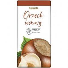 Terravita Orzech Luskowy – молочный шоколад с лесным орехом, 100 гр.