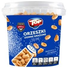 Top Orzeszki Ziemne Smazone – соленые орешки (арахис), 650 гр.