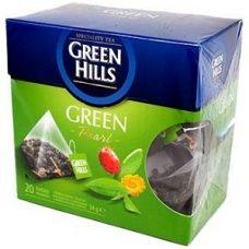 Green Hills Green – зеленый чай c кактусом и шиповником, 20 шт.