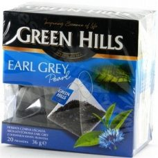 Green Hills Earl Grey – черный чай с бергамотом, 20 шт.