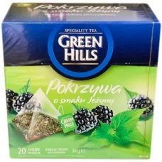 Green Hills Pokrzywa – травяной чай с крапивой и ежевикой, 20 шт.