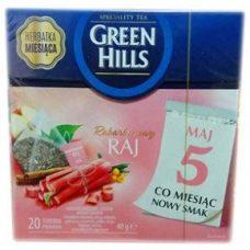 Green Hills Rabarbarowy – зеленый чай с ревенем и корицей, 20 шт.